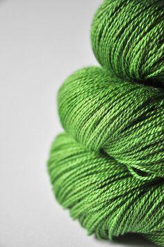 Oversaturated leaves OOAK - Silk/Merino Yarn Lace weight ~ Dye For Yarn