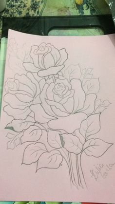 45 ideas for drawing patterns ideas fabrics Pencil Art Drawings, Drawing Sketches, Painting Patterns, Fabric Painting, Vintage Embroidery, Embroidery Patterns, Fabric Paint Designs, Flower Coloring Pages, Arte Floral