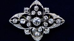 Edwardian Diamond Pin, ca. 1920 $6,000 Insurance