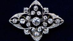 Edwardian Diamond Pin, ca. 1920 $6,000 Insurance