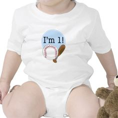 1st Birthday Baseball Kids T Shirts