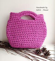 """Купить Вязаная сумка """"Ягодный щербет"""" - брусничный, ягодный, вязаная сумка, вязаный клатч"""