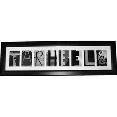 TARHEELS Framed Art