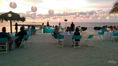 Private beach reception with in Jamaica, Las Brisas Beach Location #GrandPalladiumJamaica #WeddingReception