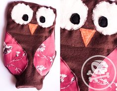 OWL hot water bottle cover