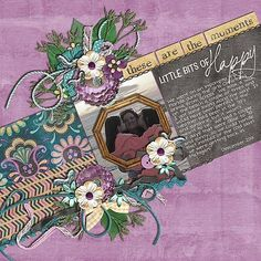 This beautiful layout was created by Joanna using These are the Moments by Bekah E Designs