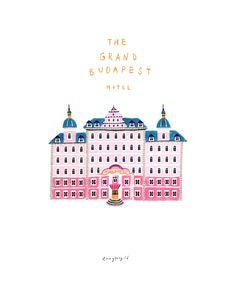 그랜드 부다페스트 호텔 - 일러스트레이션 Wes Anderson, Fuerza Natural, The Royal Tenenbaums, Candy House, Grand Budapest Hotel, Morning Love, Christmas Poster, Pictogram, Disney Wallpaper