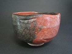 Old Red Raku-yaki Tea Bowl