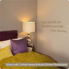 """Grown old"" in gold in a ""Carlisle Home"", Zimmer Photography & walls painted in Dulux  ""linseed"""