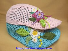 It is a website for handmade creations,with free patterns for croshet and knitting , in many techniques & designs. Childrens Crochet Hats, Crochet For Kids, Crochet Stitches, Knit Crochet, Stitch Patterns, Crochet Patterns, Hat Display, Ribbon Design, Irish Lace