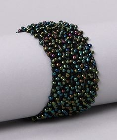 Take a look at this Black Crochet Bracelet by Born to Accessorize Collection on #zulily today!