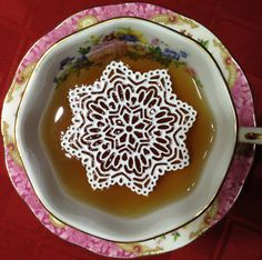 12 Sugar Doilies 2.5 Edible Stargaze Doily by SweetMarveLace - what a cool gift for tea drinkers too
