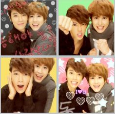 Donghae and Kyuhyun in a photobooth!  what big eyes they have.. O.O xD