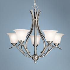 Dover Collection Brushed Nickel  Five Light Chandelier