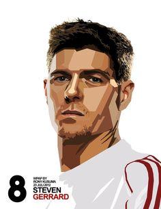 Gerrard in WPAP by punksuperhero on DeviantArt Steven Gerrard Liverpool, Liverpool Captain, Liverpool Legends, Liverpool Players, Liverpool Fans, Liverpool Football Club, Liverpool Fc Wallpaper, Liverpool Wallpapers, Steven Gerrad