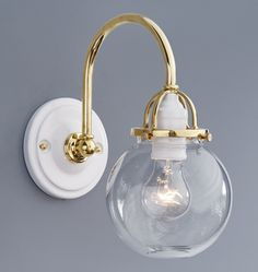 Barbara Cosgrove Library Two Light Antiqued Brass Wall Sconce - Polished brass bathroom lighting