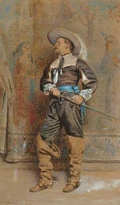 A Cavalier - George Goodwin Kilburne