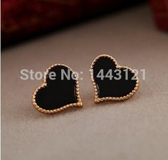 Fashion elegant temperament heart-shape earring jewelry