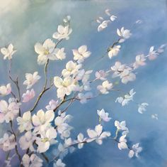 The Beauty of Blossom, White blossom, pastel painting www.nelwhatmore.com