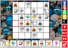 Christmas Sudoku Christmas Games, Christmas Crafts, Educational Games, Fun Games, Learning Activities, Puzzles, Holiday Decor, Play, Cool Games