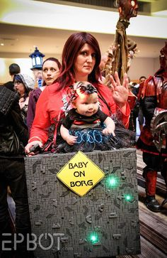 """This """"Baby On Borg"""" Is The Cutest Punny Cosplay From Dragon Con"""