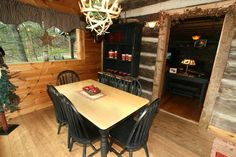 """Blessed Beyond Measure TR#13"" Gatlinburg Authentic Log Cabin in Gatlinburg, TN"