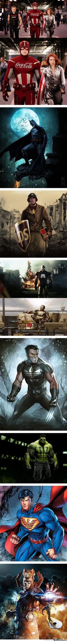 If Superheroes Had Sponsors - Awesome