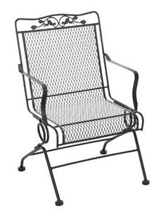 set of meadowcraft glenbrook action patio outdoor dining chair charcoal powder coated finish