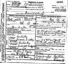 David Alfred Fraley was married to Frances Waddell. He was born in 27 October 1844 died 22 December 1929. It looked as if he died from possible heart failure.  He lived only about 5 months after his wife died of cancer.