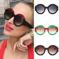 Wholesale round sunglasses from China, great deal on oval frame, cheap and reliable shipping without any minimum order requirement. Oversized Round Sunglasses, Color Combinations, Personality, Bling, Range, Store, Easy, How To Wear, Stuff To Buy