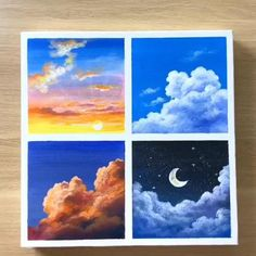 Canvas Painting Tutorials, Painting Techniques, Diy Painting, Online Painting, Small Canvas Art, Mini Canvas Art, Small Canvas Paintings, Easy Canvas Art, Easy Art