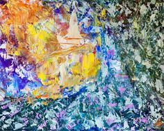 """lena Bideac - The picture painted by the oil, abstraction, """"Hello""""  Картина нарисованная маслом, абстракция """"Здравствуйте"""""""