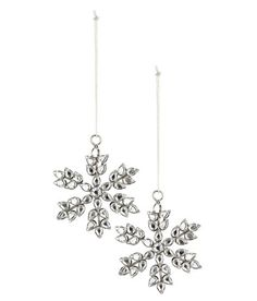 Check this out! Star-shaped Christmas ornaments in glass and metal. Height 3 1/4 in. - Visit hm.com to see more.