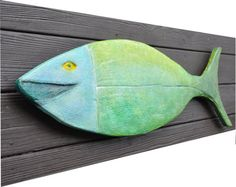 Fish wall art by SenecaArtStudio on Etsy.