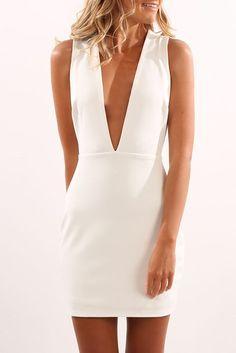Nikki Dress White