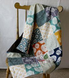 Baby Boy Patchwork Blanket. $50.00, via Etsy.