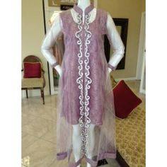 gown with crystal work