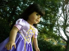 Belle Disney Princess American Girl doll dress | american girl doll clothes - Rapunzel costume for Halloween, Disney ...