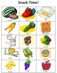 snack time chart