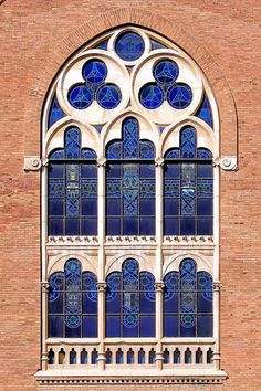 Antoni Maria Claret 167 13 b 1 by Arnim Schulz Leaded Glass, Stained Glass Art, Stained Glass Windows, Art Nouveau, Through The Window, Through The Looking Glass, Beautiful Architecture, Architecture Details, Window View