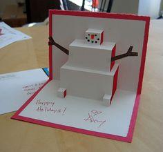 2013 Homemade Popup Christmas Card 50+ Beautiful Diy & Homemade Christmas Card Ideas For 2013