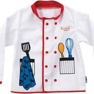 Disfraz de chef para niños Chef Suit Sewing For Kids, Diy For Kids, Fancy Dress Diy, Chef Dress, Chemistry For Kids, Slogan Tshirt, Dress Up Outfits, Kids Apron, Kids Prints