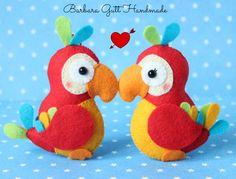 Barbara Handmade...: Państwo Papugowie :) / Mrs. & Mr.Parrot