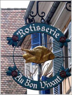 A shop sign in Strasbourg (Bas Rhin) France.