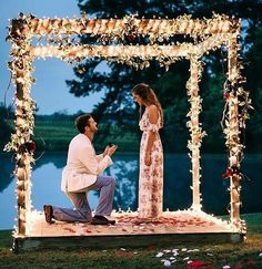21 Best Proposal Ideas For Unforgettable Moment - 24 Best Proposal Ideas For Unforgettable Moment ❤️ best proposal ideas fairy tale night time pr - Wedding Guest Book, Wedding Day, Diy Wedding, Wedding Reception, Wedding Dress, Best Proposals, Wedding Proposals, Marriage Proposals, Anniversary Surprise