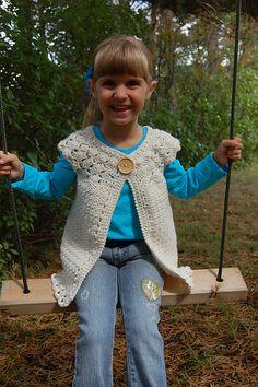 Ravelry: Classic Charm Girls Cardigan pattern by Jennifer Pionk