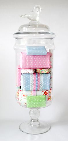Bird Apothecary Jar filled with prety soaps | Flickr - Photo Sharing!