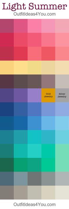 Light Summer Color Palette @outfitideas4u