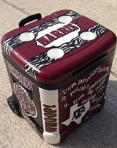 Custom 48 QT Hand Painted Cooler by SweetHomeSouthern on Etsy