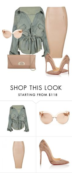 """""""Untitled #28"""" by stylzbyang ❤ liked on Polyvore featuring Faith Connexion, Linda Farrow, Posh Girl and Christian Louboutin"""
